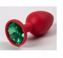 Силиконовая красная пробка (камень зеленый)