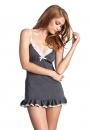 Пеньюар Leg Avenue - Lace trimmed jersey slipdress L