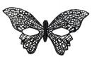 Маска ажурная (бабочка)