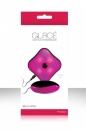 Вибро-яйцо GLACE CUTIES со светящимся пультом розовое