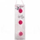 Анальная цепочка из 3-х розовых шариков, 19,5 см