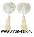Комплект пэстисов (украшение на грудь) цвет: белый