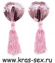 Комплект пэстисов (украшение на грудь) цвет: розовый