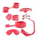 БДСМ набор красный (7 предметов)