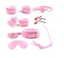 БДСМ набор розовый (7 предметов)