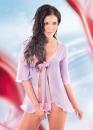 Фиолетовый Пеньюар с бантиком и стрингами