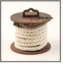 Хлопковая веревка для шибари, на катушке (Белая), 3 м.