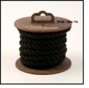 Хлопковая веревка для шибари, на катушке (Черная), 3 м.