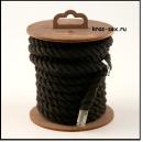 Хлопковая веревка для шибари, на катушке (Черная), 5 м.