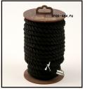 Хлопковая веревка для шибари, на катушке (Черная), 10м.