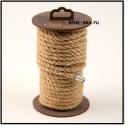 Джутовая веревка для шибари, на катушке (Натуральный), 10 м.