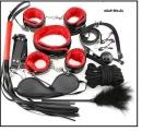 БДСМ набор 10 предметов черно-красный