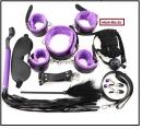 БДСМ набор 10 предметов черно-фиолетвый