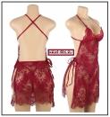 Кружевная ночная рубашка (Красная ) - S